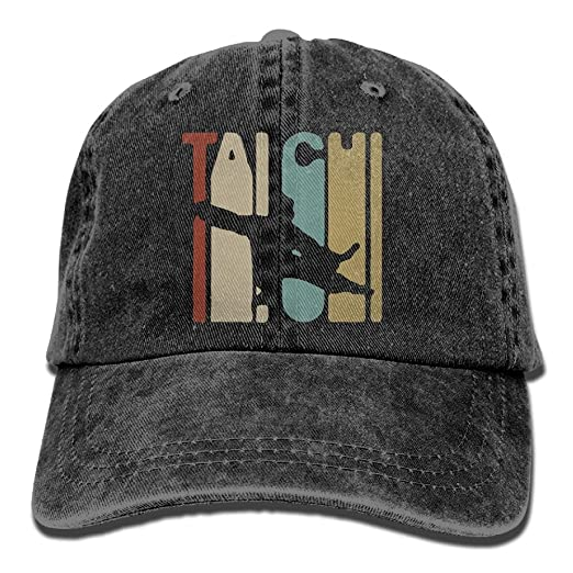 2a4490ee28c WE9SAW Vintage Style Tai Chi Men Or Women Cotton Denim Fabric Trucker Hat  Adjustable Jeans Baseball