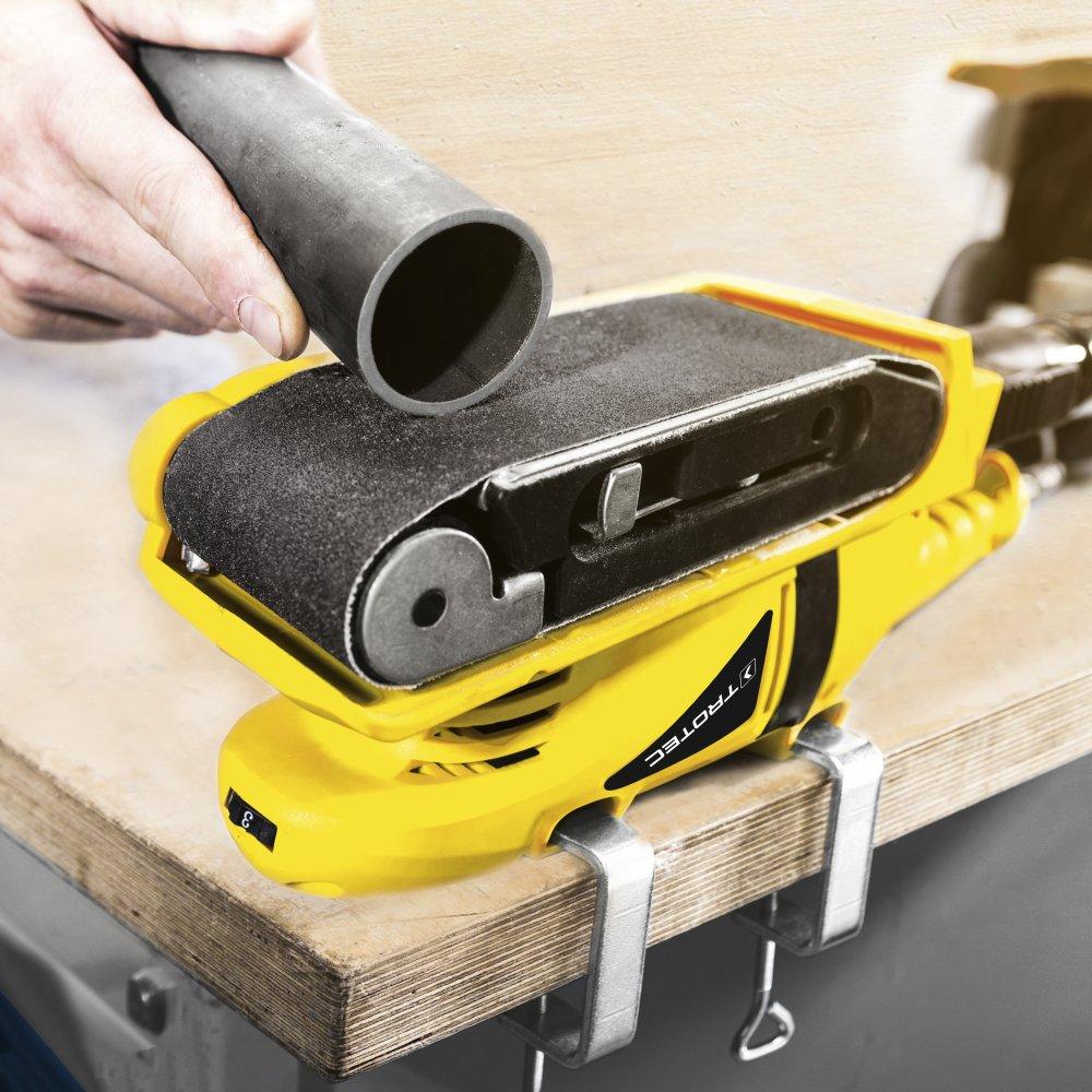TROTEC Schleifband-Set 10-teilig Bandschleifpapier Holz Schleifarbeiten Kombinierbar mit dem Bandschleifer PBSS 10-600