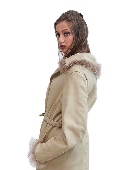 PELLICCEFUR cappotto di montone beige nappato taglia 50