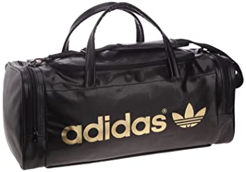 Adidas Originals Team Duffel Gym Bag Black Gold