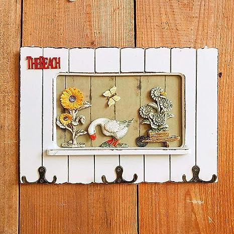 Joeesun Gancho europeo creativo hogar puerta de madera ...