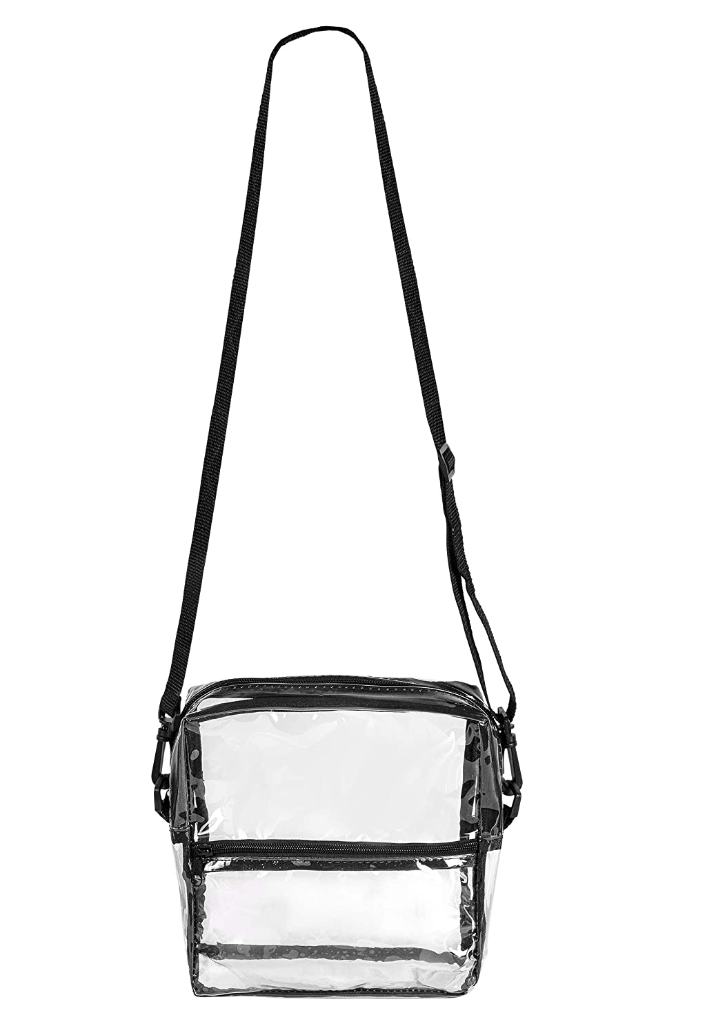 Bags for Less Clear Cross Body Messenger Tote Shoulder Bag Stadium Approved with Long Adjustable Strap
