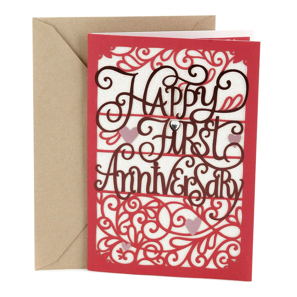 Amazon Hallmark 1st Anniversary Card Happy First Anniversary