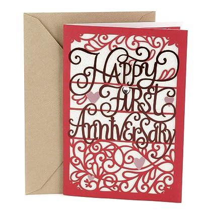 Amazon hallmark 1st anniversary greeting card happy first hallmark 1st anniversary greeting card happy first anniversary m4hsunfo