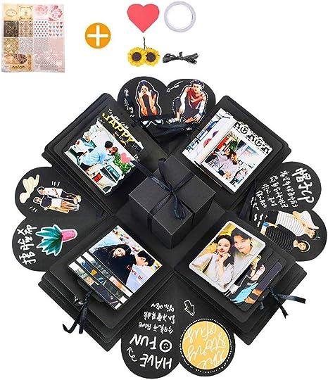 arekeke Explosion Box Scrapbook Creative DIY Photo Album, Caja de Regalo Creative Explosion, Regalos de cumpleaños (Negro): Amazon.es: Electrónica