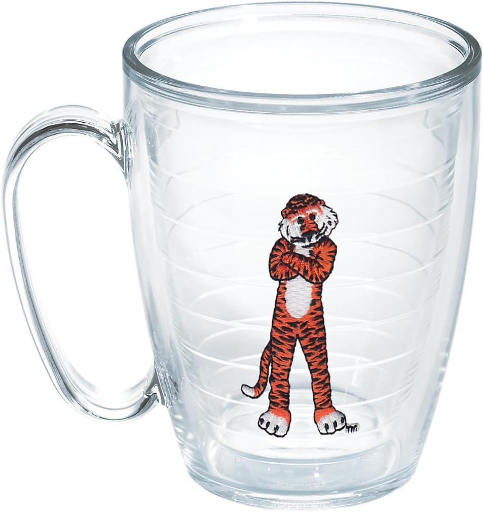 Tervis 1065480 Auburn University Aubie Emblem Individual Mug, 16 oz, Clear