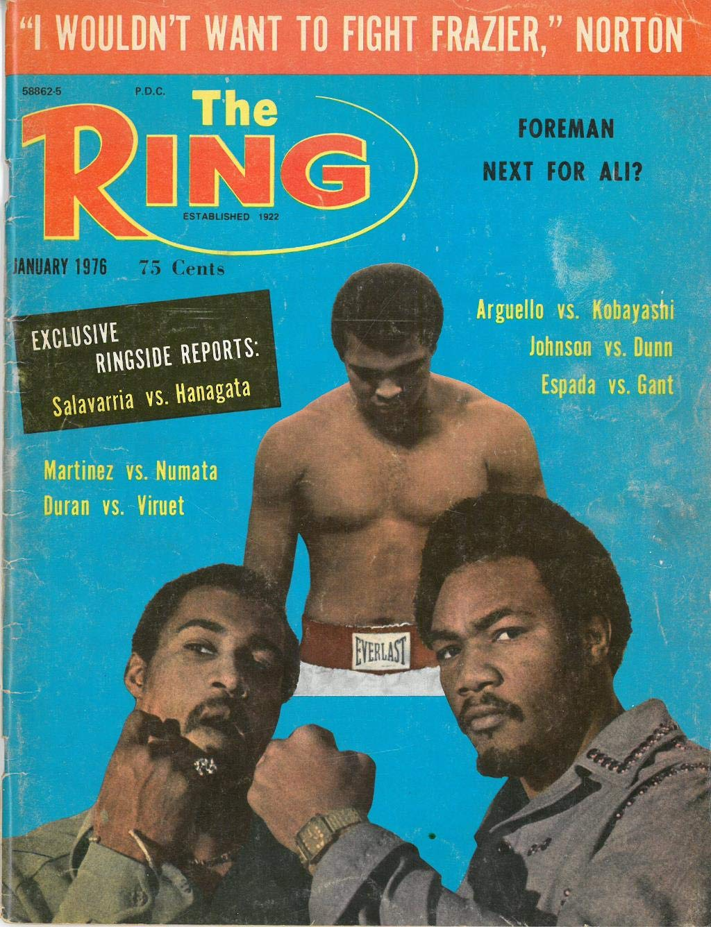 Joe Frazier/Duane Bobick Signed Autographed 1976 the Ring Magazine JSA #AA48932
