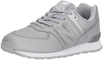 New Balance 574v1 Sneaker, Silver, 5.5 W US Big Kid