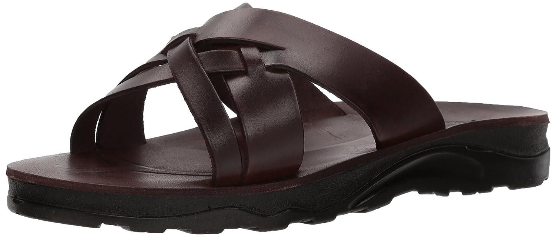 Jerusalem Sandals Men's Jesse Molded Footbed Slide Sandal B075M12CPS 47 Medium EU (14 US)|Brown
