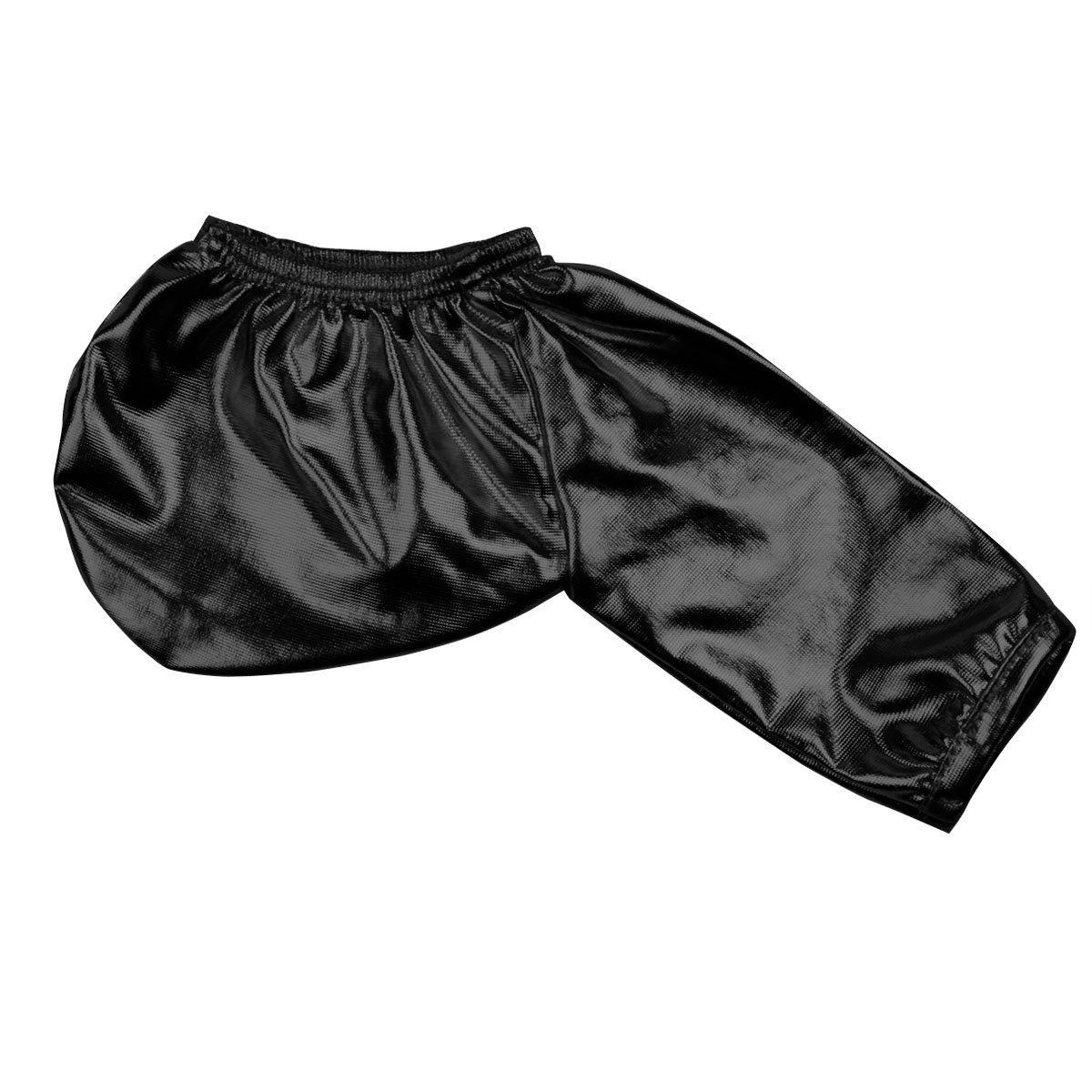 inlzdz Mens Wet Look Shiny Metallic Faux Leather C-String Briefs Bikini Underwear