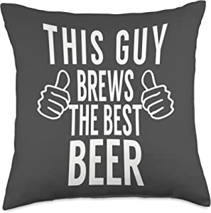 Home Brewing Supplies & Accessories This Guy Best Beer-Home Brew Tshirt Gift Throw Pillow, 18x18, Multicolor