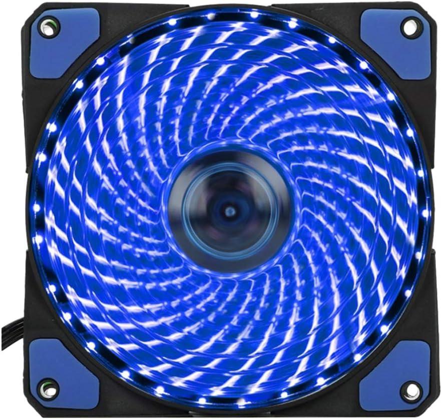 Solustre 120mm Computer Case Fans, CPU Cooling Fan PC Cooler Fan, Quiet Edition LED Case Fan for PC Cases, CPU Coolers, and Radiators (Blue)