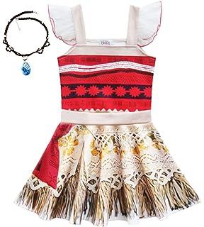 Sunny Fashion Vestido Para Niña Moana Disfraz Dibujos