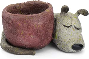 Georgetown Home and Garden Dreamer Dog by Blobhouse Decorative Planter with Drain Hole