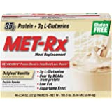 MET-Rx Original Whey Protein Powder,Meal Replacement Shakes, Low Carb, Gluten Free, Original Vanilla, With Vitamin A, Vitamin C, Vitamin D, and Zinc to Support Immune Health, 2.54oz. Packets, 40 Count