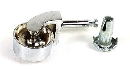 De vaso 32 mm Push en ruedas. Cromo Grip cuello ruedas