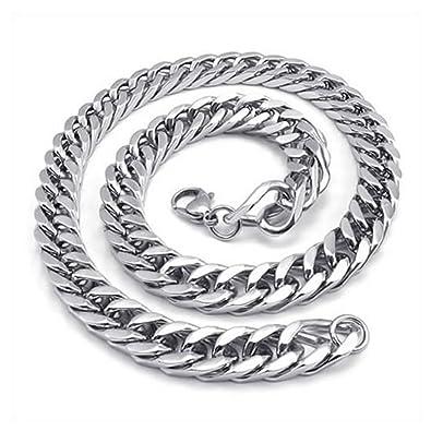 55cm Schmuck Herrenkette Edelstahl Herren-Halskette