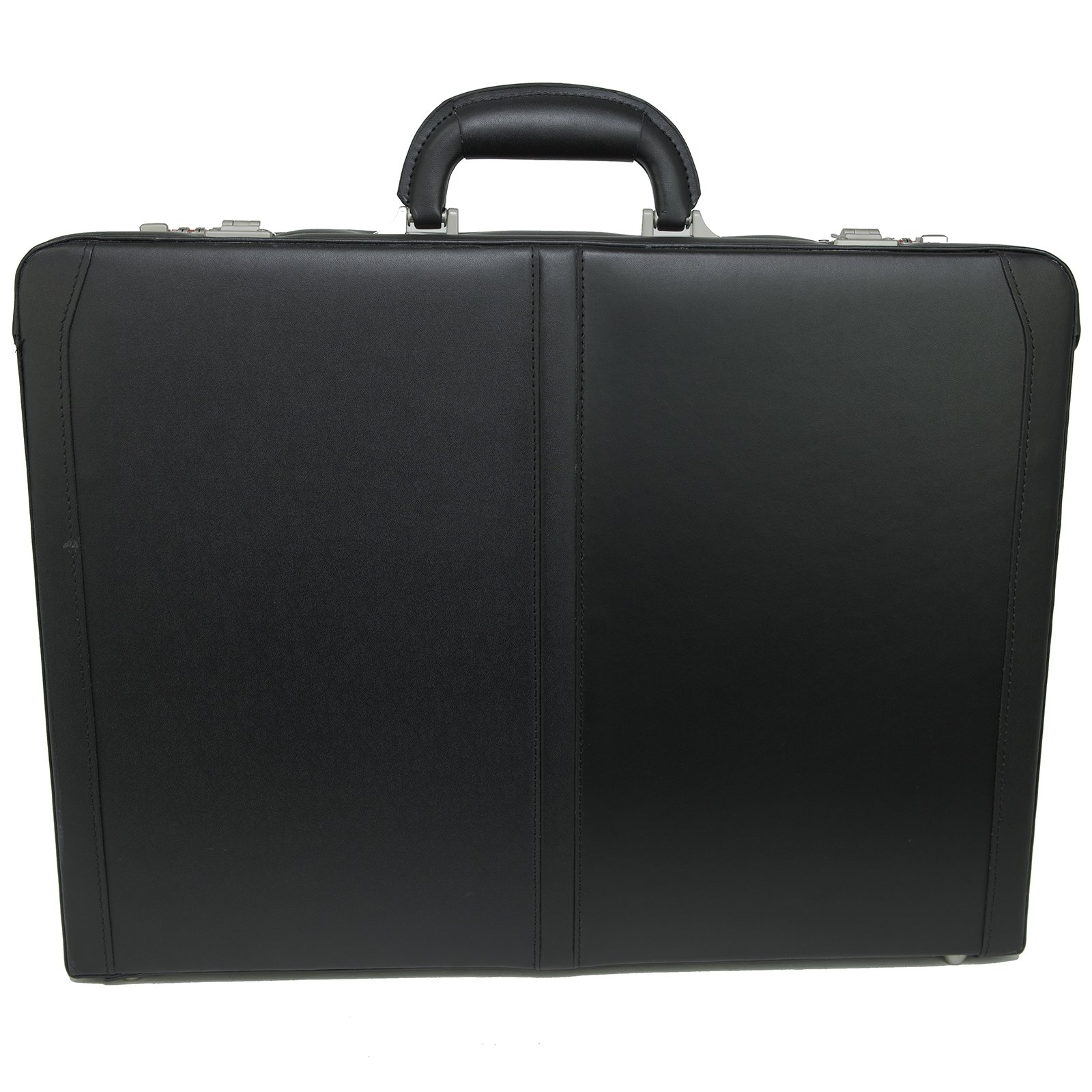 Alpine Swiss Expandable Leather Attache Briefcase Dual Combination Locks 1 Year Warranty by alpine swiss (Image #3)