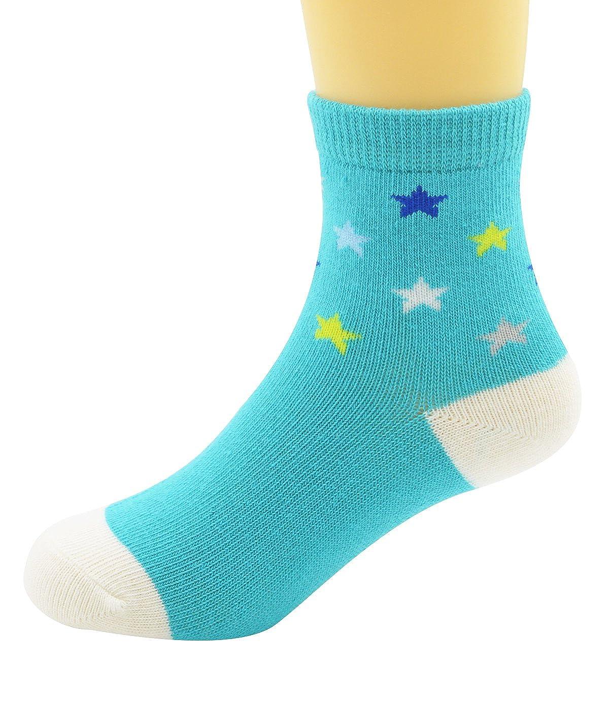 Century Star Fashion Lovely Kid Baby Children Boys Girls Cotton Basic Comfort 5 Pairs Socks