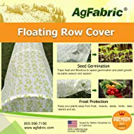 Agfabric Super-Heavy Floating Row Cover and Plant Blanket, 1.5oz Fabric of 6x25ft for Frost Protection and Terrible Weather Resistant, with Leaves Pattern