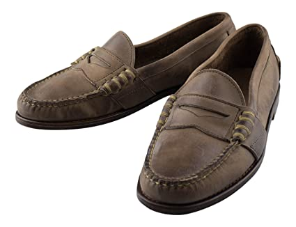 9f5d7886f61 Image Unavailable. Image not available for. Color  RALPH. LAUREN. Brown  Leather Penny Loafers ...