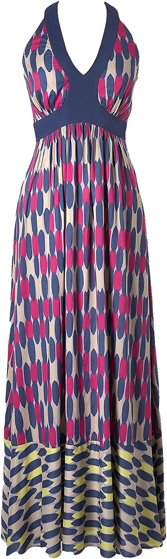 BODEN Floaty Viscose Halterneck Glam Summer Maxi Dress Size US 12