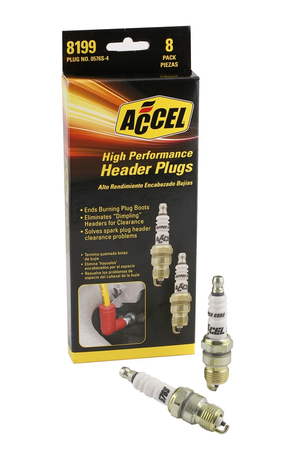 ACCEL 8199 U-Groove Spark Plug - 8 Pack of #0576S by ACCEL
