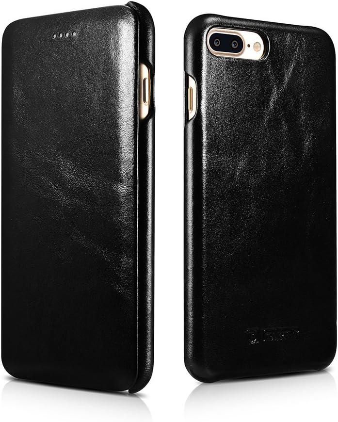 ICARER iPhone 7 Funda, iPhone 8 Cover, Genuino Cuero Flip Case Carcasa Protectora Cover con Cierre magnético para iPhone 7/8 4.7