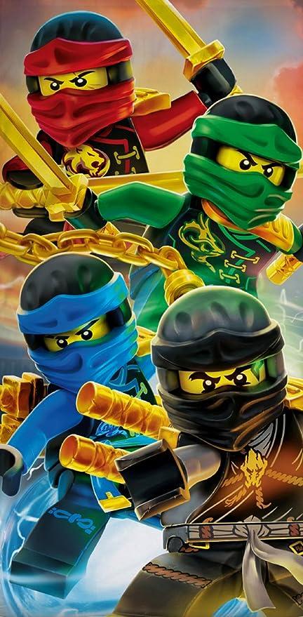 "Lego Ninjago Toalla ""Diseño Team 70 cm x 140 cm, embalaje original"