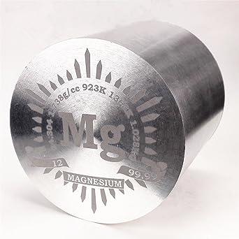 1 kg Bellas inflexión magnesio Metal Cilindro 91 x 91 mm 99,99% grabado