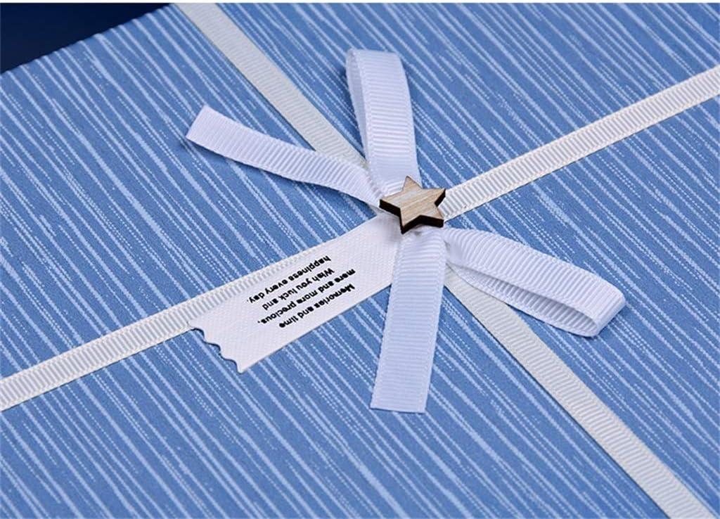 Color : Azul Rectangular de Gran Capacidad Regalo Caja Camisa Bufandas Caja Simple para Vacaciones cumplea/ños