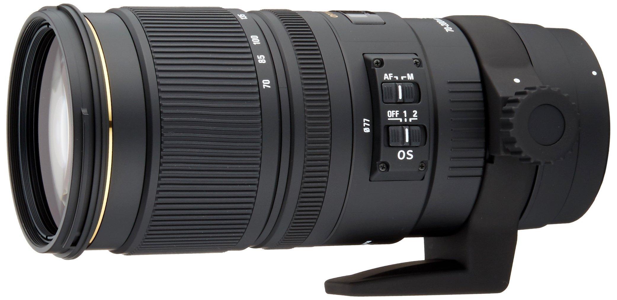 Sigma 70-200mm f/2.8 APO EX DG HSM OS FLD Telephoto Zoom Lens for Nikon (589306) (Renewed) by Sigma