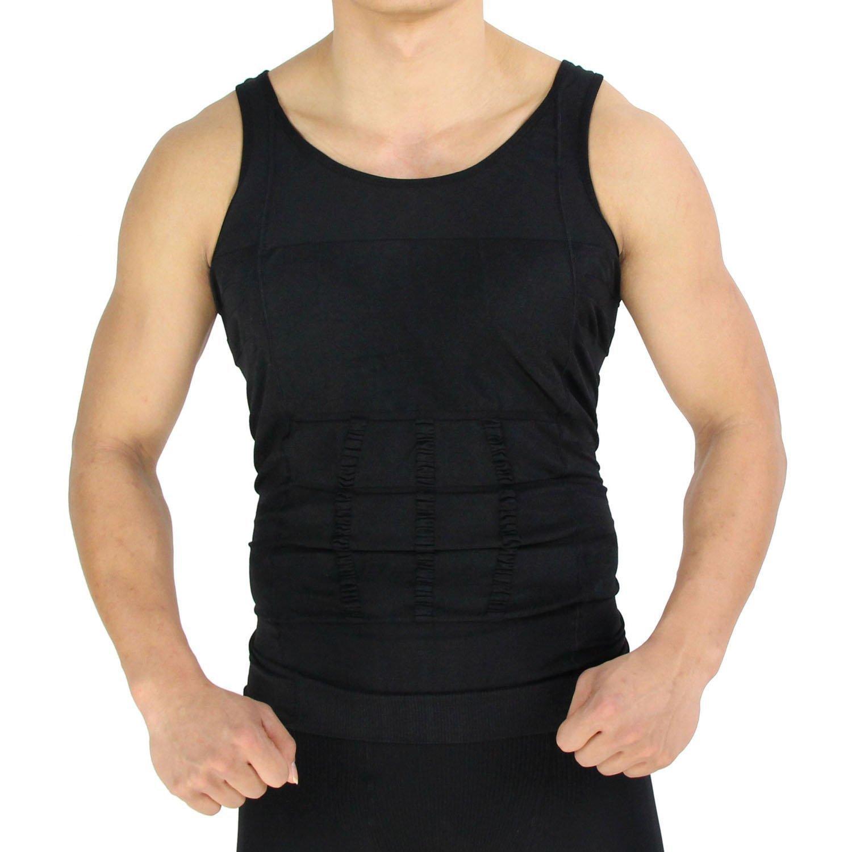 RockWearZ Men's Compression Undershirt Bodywear Vest Shirt Body Shaper Underwear