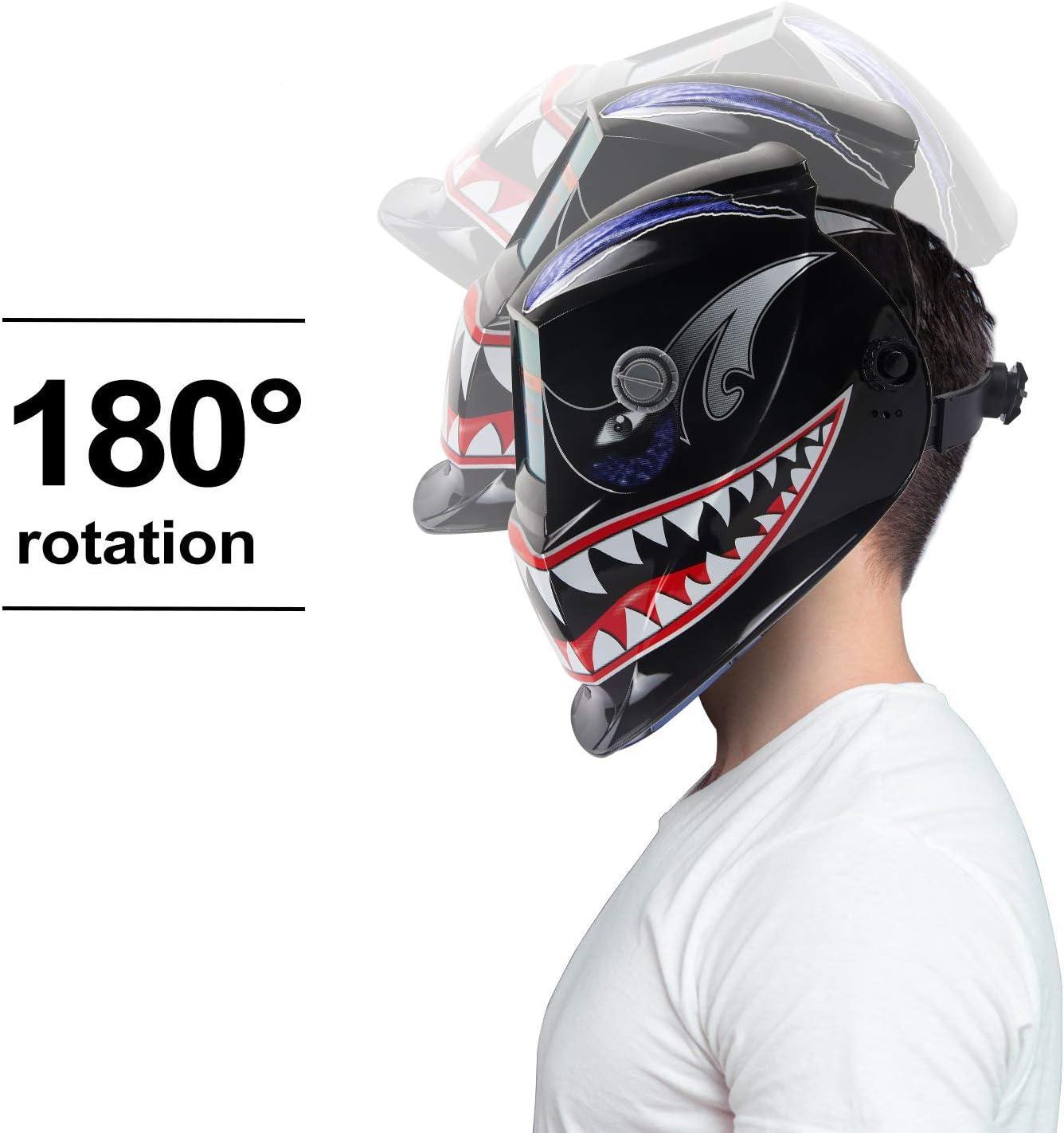 Saldatura Viso Protezione OHMOTOR Maschera per Saldatura Casco per Saldatura Automatico scurimento Saldatore Maschera