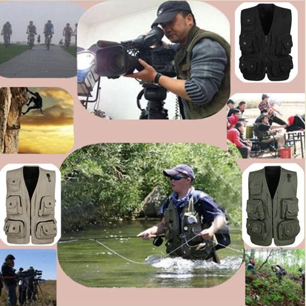 Anglerweste Jägerweste Arbeitsweste Multitaschen Herren Männer Jagd