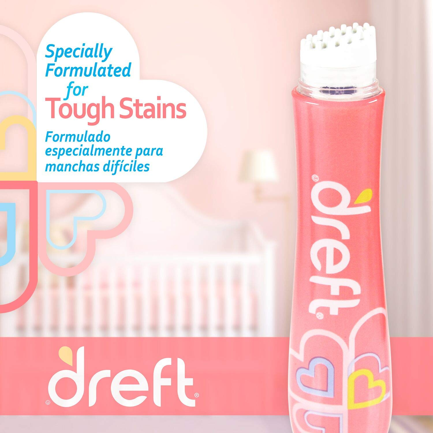 Dreft Baby Laundry Instant Stain Remover Pen, 0.7 Fluid Ounce (Pack of 2 Travel to-Go Pens) by Dreft