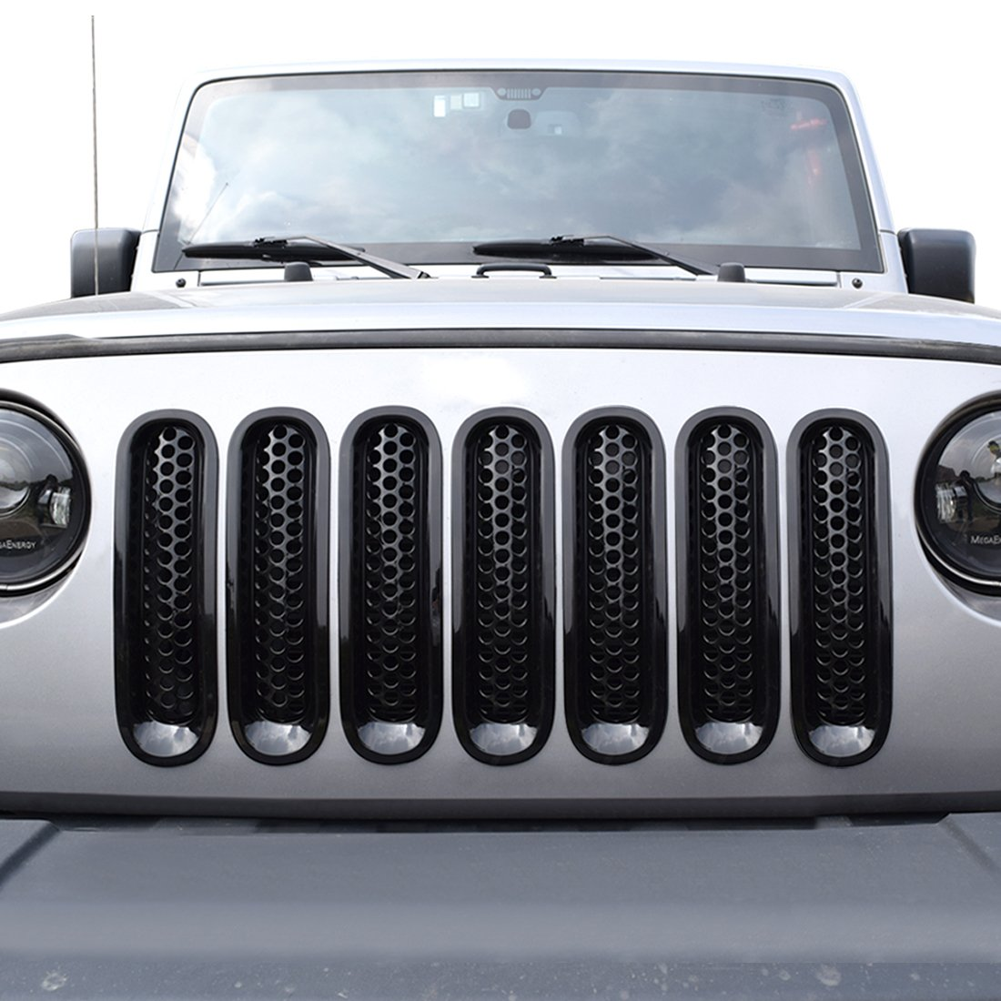 American 4wheel Clip-in Mesh Grill Inserts Grille Mesh Guards for 2018-2019 2/&4 Doors Jeep Wrangler JL JLU /& Unlimited Rubicon Sahara Sports