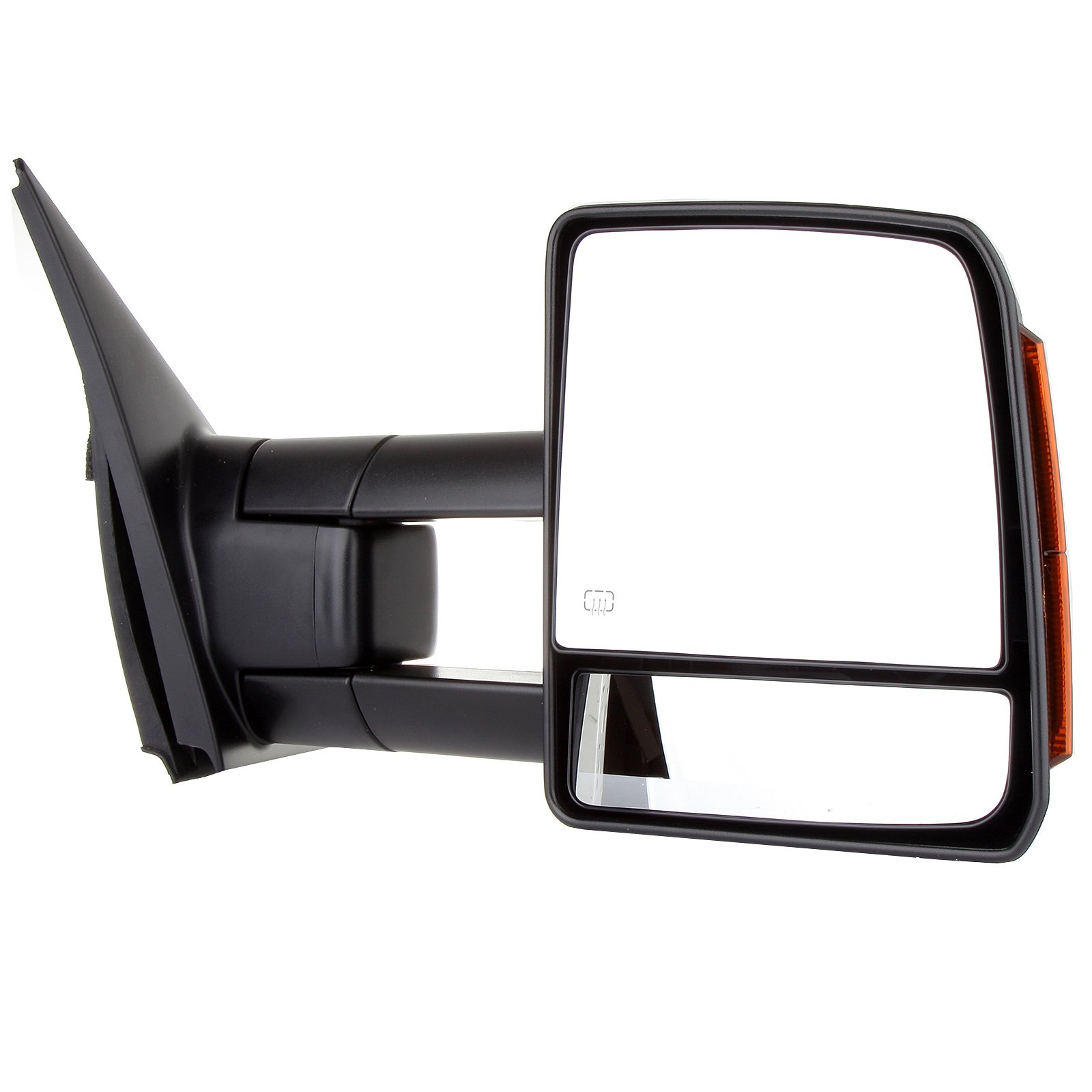 SCITOO fit Toyota Towing Mirrors Rear View Mirrors fit 2007-2016 Toyota Tundra Truck Larger Glass Power Control, Heated Turn Signal Manual Extending Folding (black) by SCITOO (Image #3)