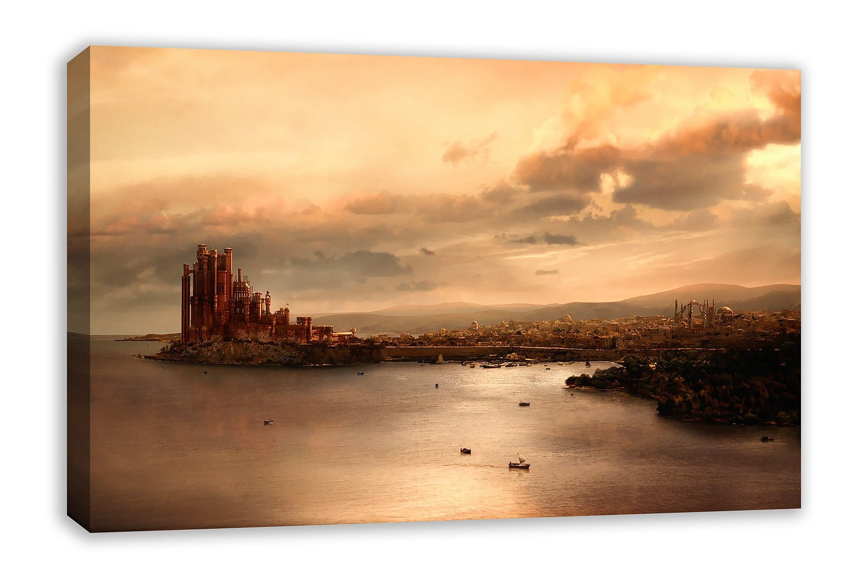 "GAME OF THRONES KINGS LANDING CANVAS WALL ART (44"" X 26"")"