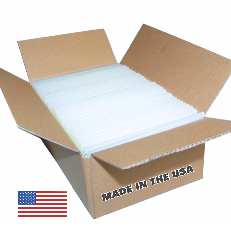 "USA Glue Sticks - 7 Lbs. (approx. 125 Sticks) Clear High Strength Glue Sticks, 7/16"" X 10"", Made in the USA"