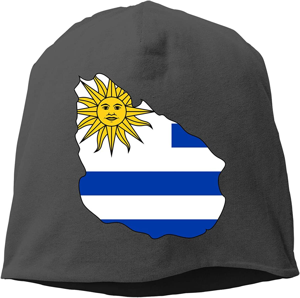Uruguay Flag Map Unisex Knitted Hat Beanie Hat Warm Hats Skull Cap Beanie Hat