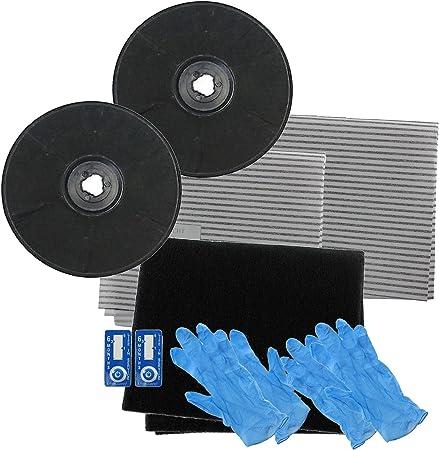 Spares2go filtros de carbón vegetal tipo EFF57 cartucho filtro de grasa para Faure cocina campana extractora/extractor ventilación (230 x 20 mm, pack de 2): Amazon.es: Hogar