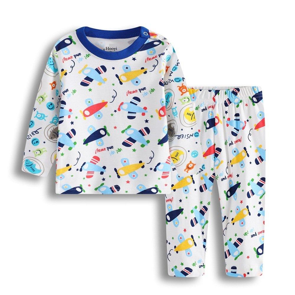 Hooyi Boys Pajamas Air Plane Bebe Sleepwear Kid Sleep Sets