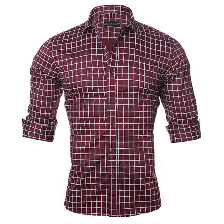 Men Shirt Long Sleeve Casual Social Shirt Plus Size M-5XL N1144