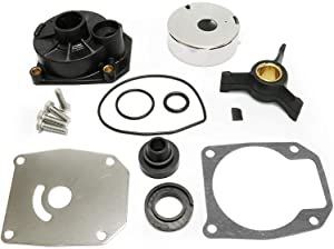 V G Parts Johnson Evinrude Water Pump Repair Kit for Outboards 40HP 50HP with Impeller and Housing, Replaces Sierra 18-3454 438592 433548 433549 777805