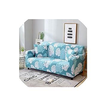 Amazon.com: Futon Slipcovers Green Leaf Sofa Cover Cotton ...