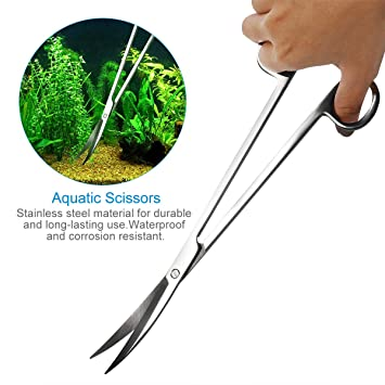 ueetek Acuario Kit Herramienta Accesorios Acero Inoxidable Acuario Depósito Agua Planta pinzas tijeras herramientas Set peces Starter Kits: Amazon.es: ...
