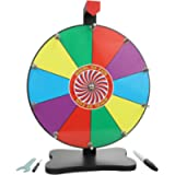Whirl of Fun Prize Wheel 12 Inch Tabletop-10 Color Slots, Write on Erasable Whiteboard Surface, Easy Assembly, Tools and…