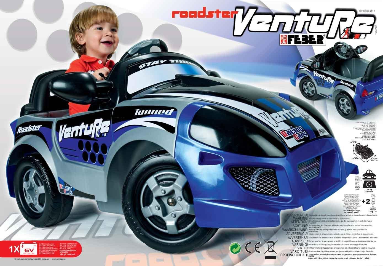 Féber 800007620 Roadster Venture 6 V - Coche para niños: Amazon.es: Juguetes y juegos