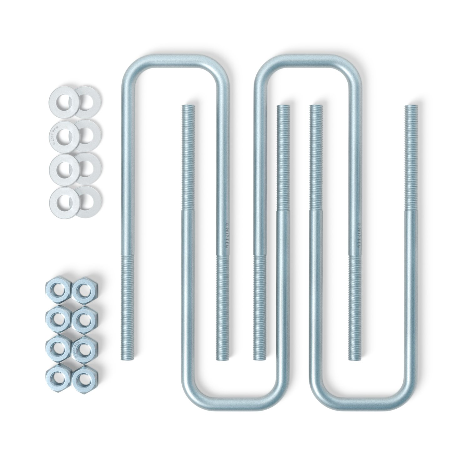 Square Axle Extended Steel U Bolts (9 Length, 2 42 Width